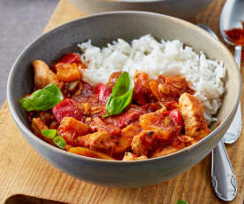 Chicken with capsicum