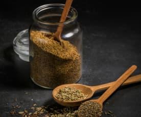 Mistura clássica de especiarias para pão, trituração ligeira