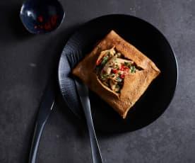 Gefüllte Thai-Hähnchen-Omelettes