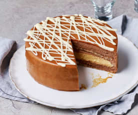 Kirsten Tibballs's Caramel chocolate mousse cake (TM6)