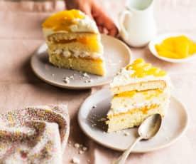Chaja (Gâteau meringué à la pêche)