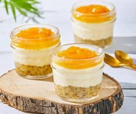 Individual Pineapple Cheesecakes