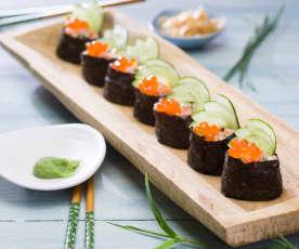 Gunkan-maki de salmón