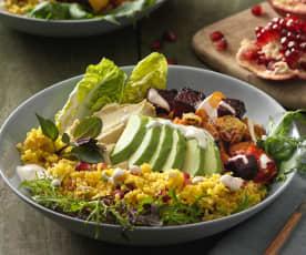 Avocado Hummus Bowl mit Granatapfel-Couscous