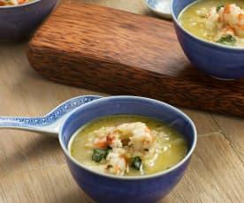 Khao Tom (Sopa de arroz thai)