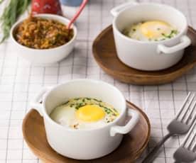 Uova in cocotte in salsa saporita