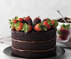 Trojitý čokoládový dort