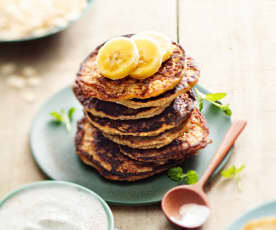 Baby-friendly Banana Pancakes with Cinnamon Yoghurt