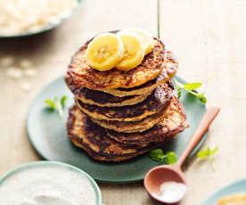 Baby-friendly Banana Pancakes with Cinnamon Yoghurt