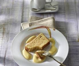 Baumkuchen mit Baileys-Zabaglione