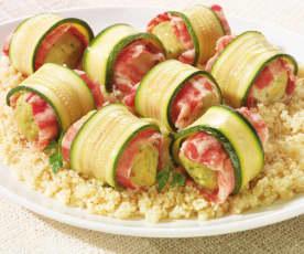 Involtini di zucchine e nasello con cous cous