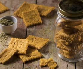 Crackers al pomodoro e Parmigiano reggiano