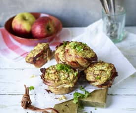Jabłkowe muffiny z boczkiem