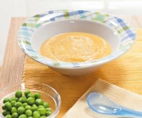 Crema di verdure e piselli con vitello multiporzione (7-9 mesi)
