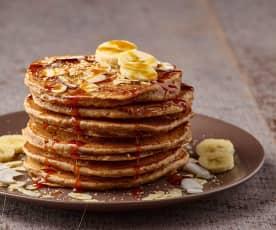 Pancake al farro con banane
