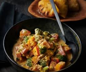 Kürbis-Brokkoli-Gemüse
