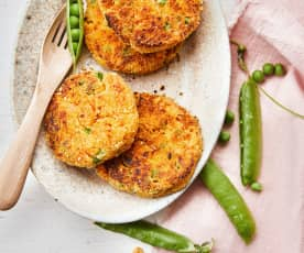 Croquettes de légumes et poulet