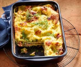 Brokkoli-Lachs-Lasagne