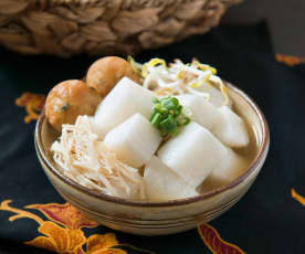 Soto ayam (spiced chicken soup)
