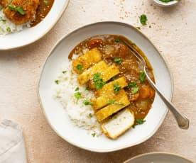 Curry katsu de tofu vegano