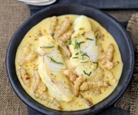 Curry de lieu et crosnes
