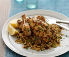 Steamed Poussins and Fruity Quinoa