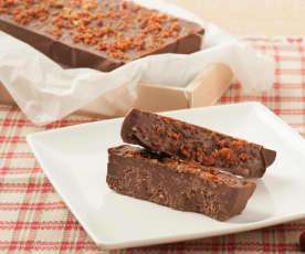 Turrón de chocolate y beicon
