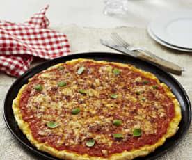 Pizza mit Kartoffelteig