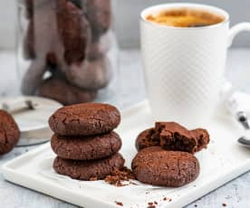 Owsiane ciasteczka czekoladowo-orzechowe