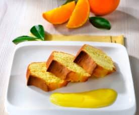Ciambellone con crema all'arancia