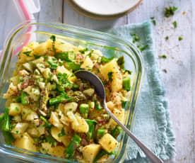 Kartoffelsalat mit Manchego und Spargel