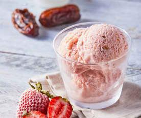 Helado de yogur de fresa