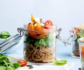 Frascos de almuerzo multicolor