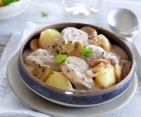 Filet mignon de porc à la moutarde et pommes de terre
