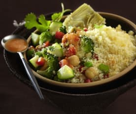 Couscous mit Gemüse und Tomatensauce