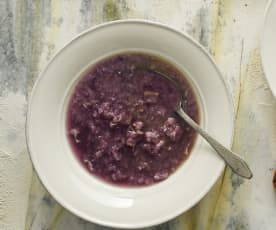 Rotkohl-Speck-Suppe