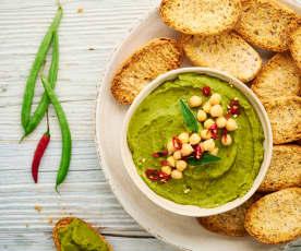 Hummus de judías verdes