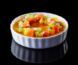 Bachour: Crème Brûlée con frutas tropicales