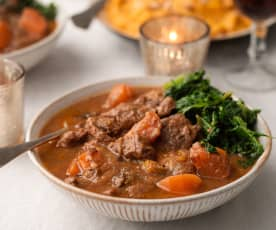Venison Stew with Root Vegetables and Prunes