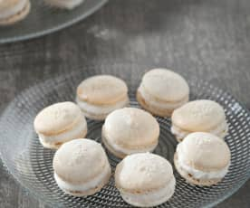 Macarons de helado de coco