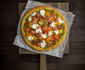 Coriander pesto pizza