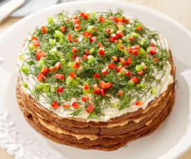Gemüse-Leber-Torte