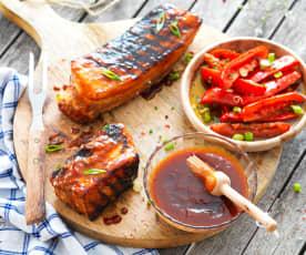 Marinade sauce BBQ (pour travers de porc)