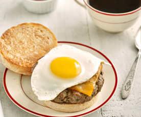 Hamburguesa para desayuno