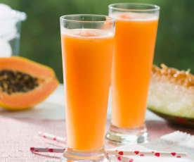 Sorbete de papaya y melón