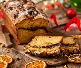 Cake integral de espelta con naranja, chocolate y nueces