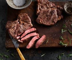 Sous-vide côte de bœuf, désossée