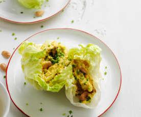 Salada de frango com maionese carilada