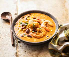 Githeri (Ragoût de maïs, haricots rouges et crevettes)