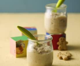 Porridge mit Apfel, Banane und Dattel